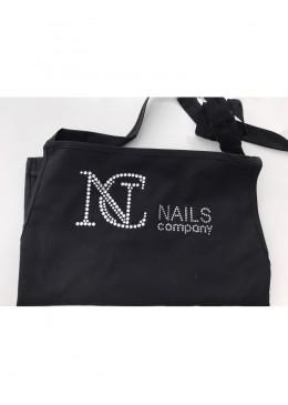 Tablier noir et Swarovski NC Nails Company
