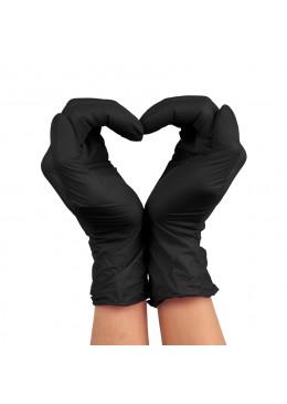 gants nitrile S black