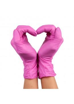 gants nitrile S pink