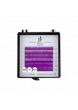 Cils colorés mix 0.07 C Purple