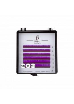 Cils colorés mix 0.10 D Purple
