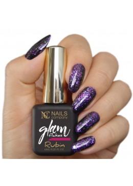 Glam flakes rubin