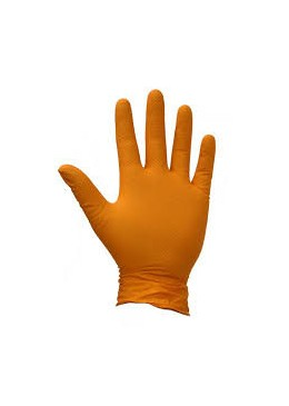Gants nitrile L Orange
