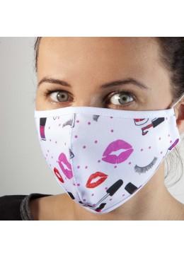 Masque Tissu blanc Baiser NC
