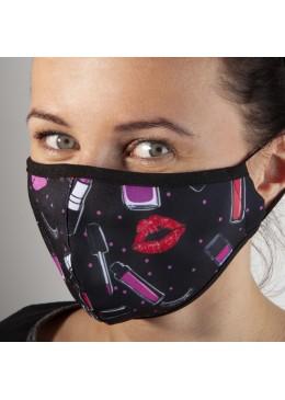 Masque Tissu noir Baiser NC