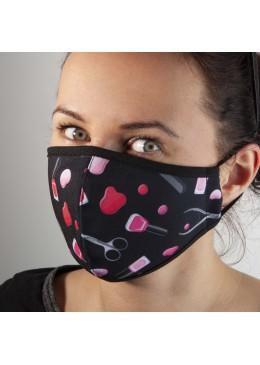 Masque Tissu noir Vernis NC
