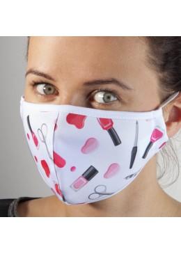 Masque Tissu blanc Vernis NC